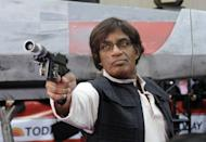 <p>Al Roker also got in on the fun dressing up as Han Solo with a wig, vest, blaster pistol, and a killer stare. </p>