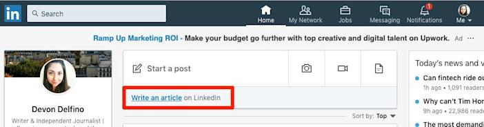 1 HOW TO POST ARTICLE LINKEDIN