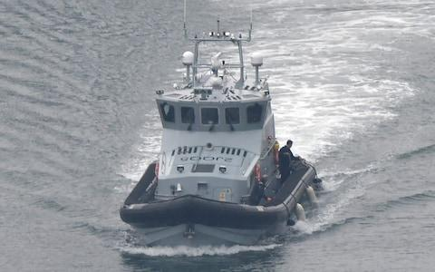 Border Force patrols are already operating in the Channel - Credit: Steve Finn