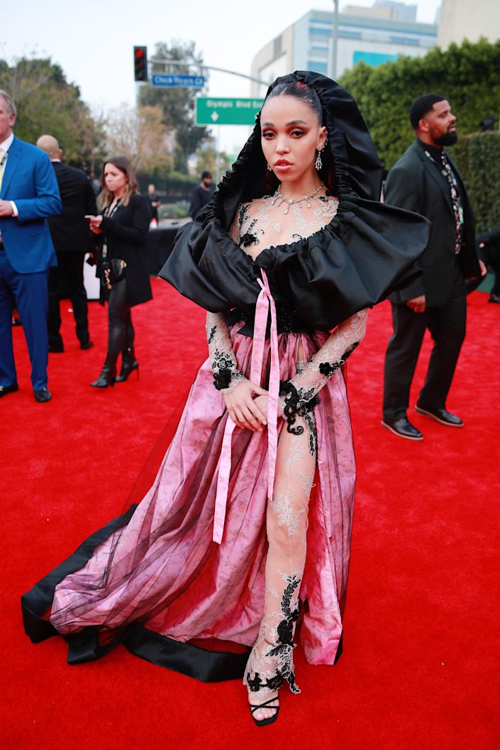 FKA twigs at the Grammys.