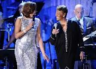 Whitney Houston and Dionne Warwick perform onstage at the 2011 Pre-GRAMMY Gala and Salute To Industry Icons Honoring David Geffen at Beverly Hilton in Beverly Hills, Calif. on February 12, 2011  -- Getty Images