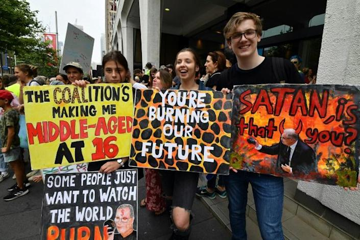 Protesters in Sydney have kicked off a fresh round of global climate protests (AFP Photo/Saeed KHAN)