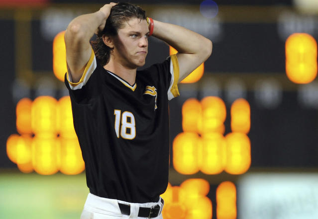 The Southern Mississippi baseball team — whose Cole Donaldson is shown here last season — is losing three home games to Stony Brook University because of politics. (Ryan Moore/WDAM, via AP)