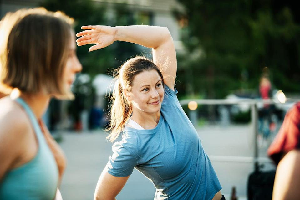 """<p>If you're at a healthy body fat percentage, you might find it more difficult to lose weight (and especially fat) because your body sees it as necessary to survive. And in fact, it is: body fat is necessary for important processes like <a href=""""https://www.popsugar.com/fitness/How-Do-I-Lower-My-Body-Fat-Percentage-44714537"""" class=""""link rapid-noclick-resp"""" rel=""""nofollow noopener"""" target=""""_blank"""" data-ylk=""""slk:hormone regulation"""">hormone regulation</a> and maintaining homeostasis, which encompasses basic survival mechanisms like body temperature and chemical levels. It also serves to protect your organs and cushion your joints.</p> <p>If your body judges its current body fat content to be sufficient, Milton explained, it may adjust your metabolism to """"conserve energy loss and preserve body mass,"""" thus slowing or stopping weight loss. If you think this might be the case for you, consult with a health care professional about <a href=""""https://www.popsugar.com/fitness/Why-You-Should-Know-Your-Body-Fat-Percentage-45969529"""" class=""""link rapid-noclick-resp"""" rel=""""nofollow noopener"""" target=""""_blank"""" data-ylk=""""slk:getting your body fat percentage tested"""">getting your body fat percentage tested</a>.</p>"""