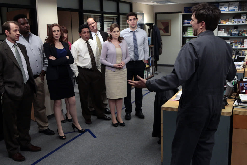 "<b>""The Office""</b><br><br>Thursday, 5/10 at 9 PM on NBC<br><br><a href=""http://yhoo.it/IHaVpe"">More on Upcoming Finales </a>"