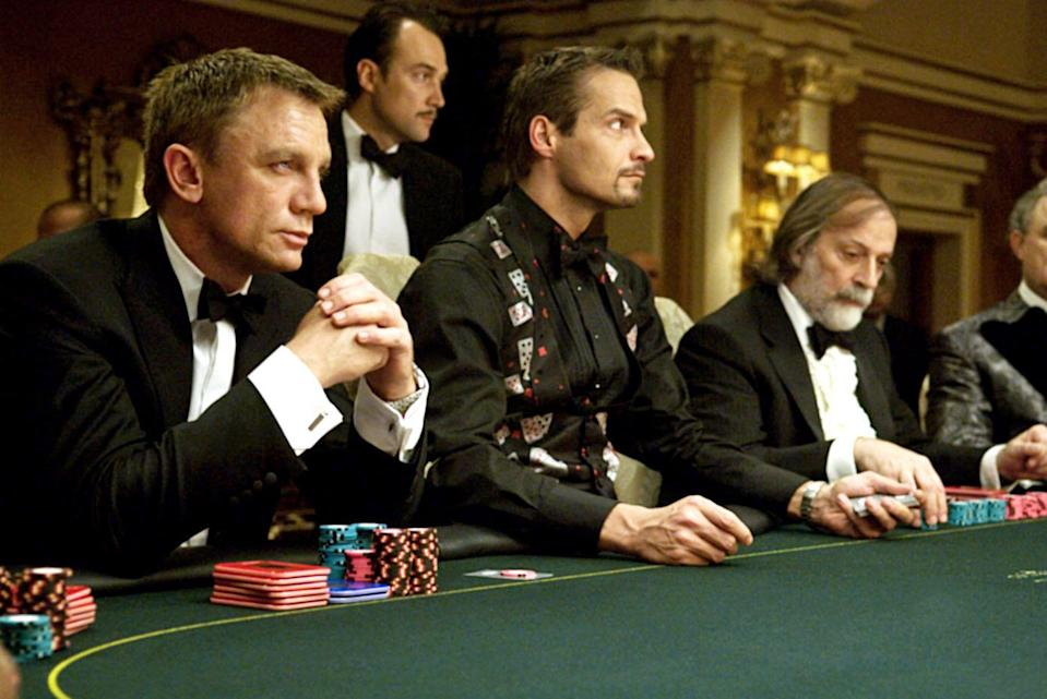 """<p><a class=""""link rapid-noclick-resp"""" href=""""https://www.amazon.com/Casino-Royale-Daniel-Craig-James/dp/B0020M99LC/ref=sr_1_1?crid=3SOHV7Z0LL0MB&dchild=1&keywords=casino+royale&qid=1594394402&s=instant-video&sprefix=casino+r%2Cinstant-video%2C181&sr=1-1&tag=syn-yahoo-20&ascsubtag=%5Bartid%7C10058.g.2509%5Bsrc%7Cyahoo-us"""" rel=""""nofollow noopener"""" target=""""_blank"""" data-ylk=""""slk:watch"""">watch</a></p><p>James Bond is known in the movieverse for its action-packed, women-objectifying spy films, but all that changed when Daniel Craig took over the role. His first movie as Britain's most notorious secret agent is filled with deception, love, unreal stunts, strong female leads, and a twist ending you won't see coming. If you've never seen a 007 film before, let this one be your first. </p>"""