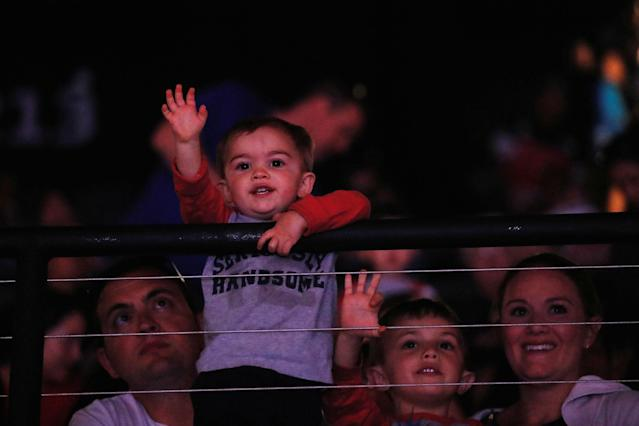 <p>A child in the audience watches a show on the last day of the Ringling Bros. and Barnum & Bailey circus at Nassau Coliseum in Uniondale, New York, May 21, 2017. (Lucas Jackson /Reuters) </p>