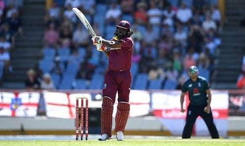Chris Gayle in action against England
