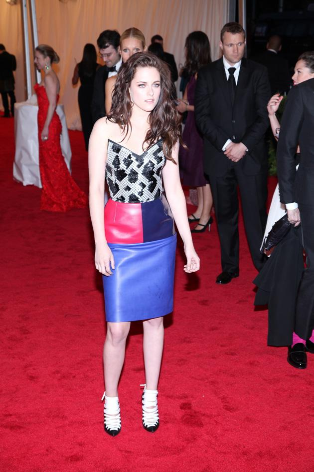 Kristen Stewart wore a Balenciaga mini dress by Nicolas Ghesquiere / WENN