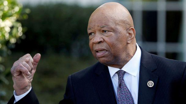PHOTO: Rep. Elijah Cummings speaks with reporters after meeting with President Donald Trump at the White House in Washington D.C., March 8, 2017. (Jonathan Ernst/Reuters, FILE)