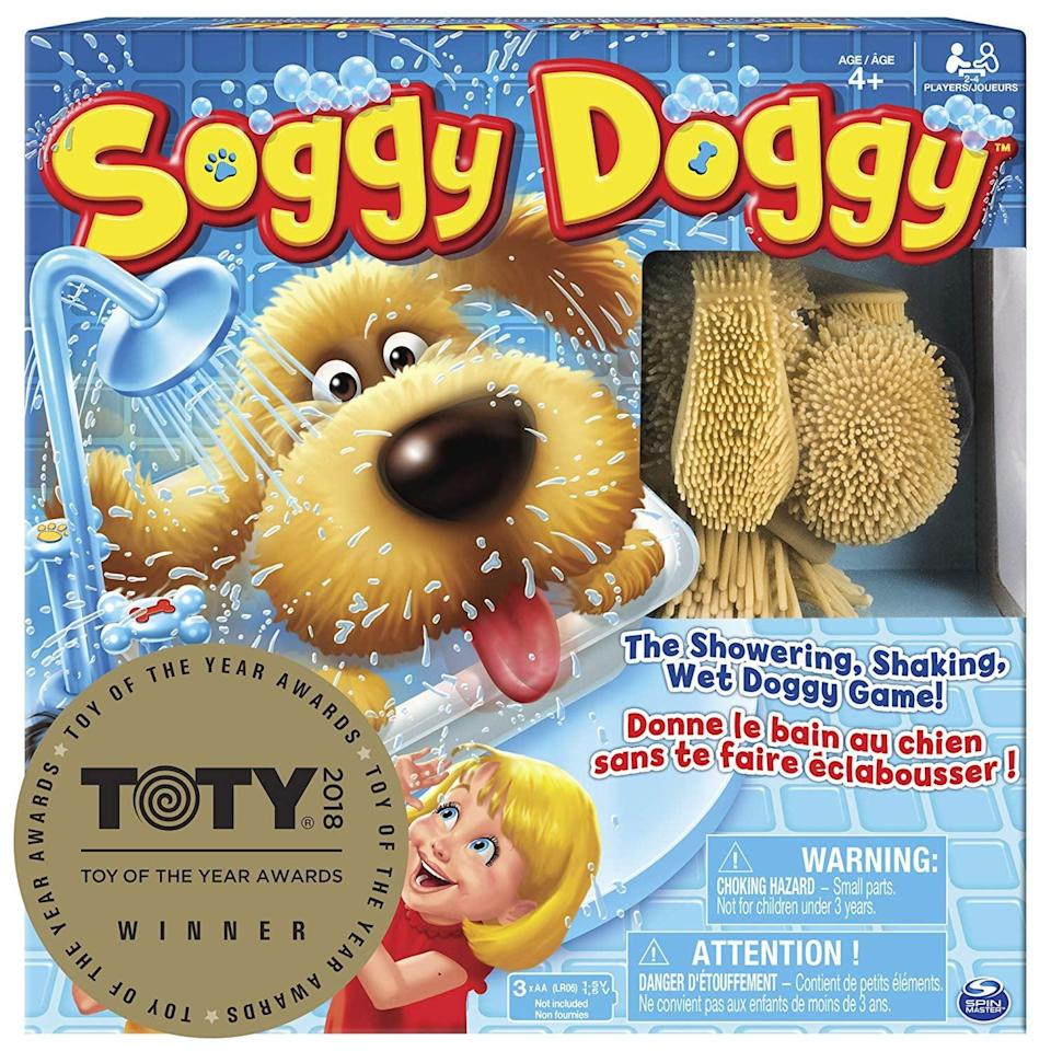 <p>This two-player <span>Soggy Doggy Board Game</span> ($10) will keep your twins laughing.</p>