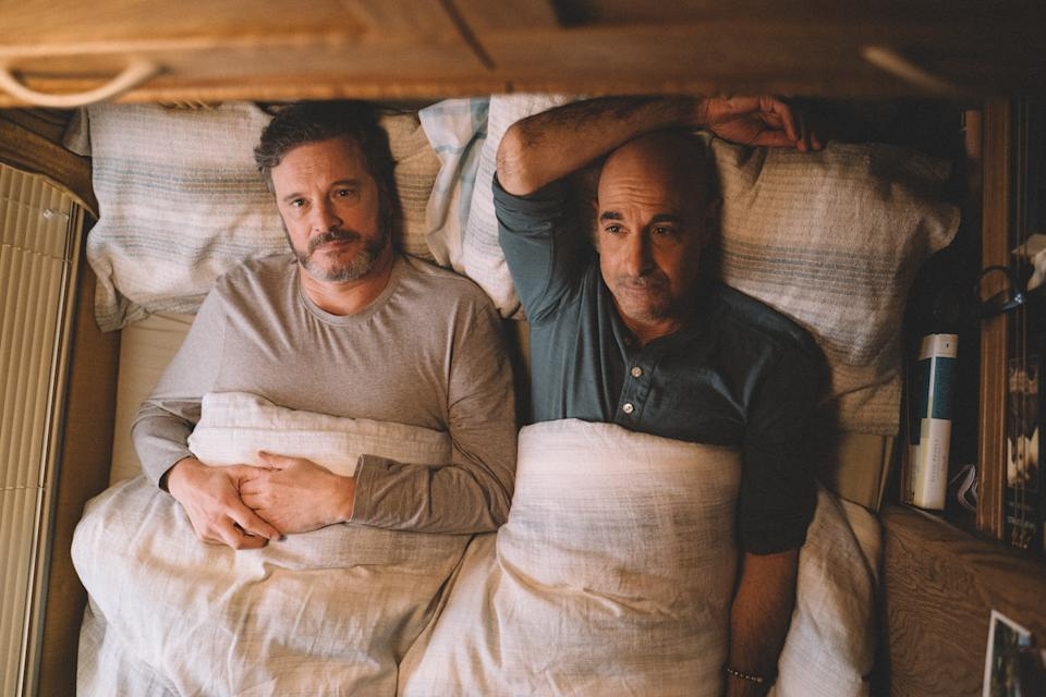 Colin Firth and Stanley Tucci in Supernova. (Photo: Golden Village Pictures)