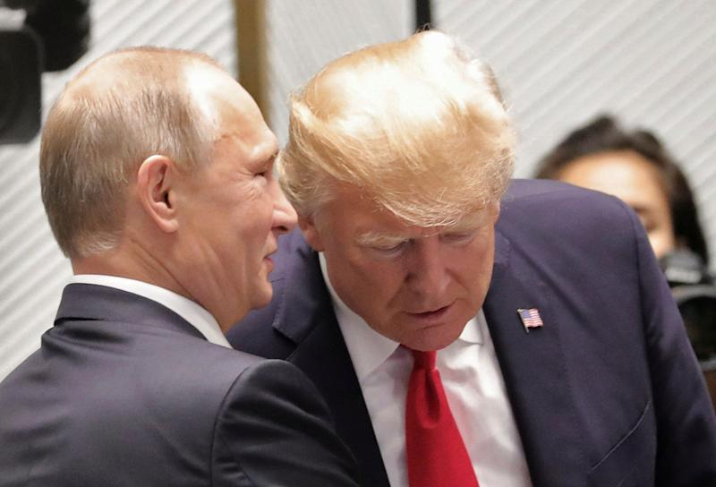 U.S. President Donald Trump tweeted on Wednesday about his decision to congratulate Russian President Vladimir Putin on his re-election.
