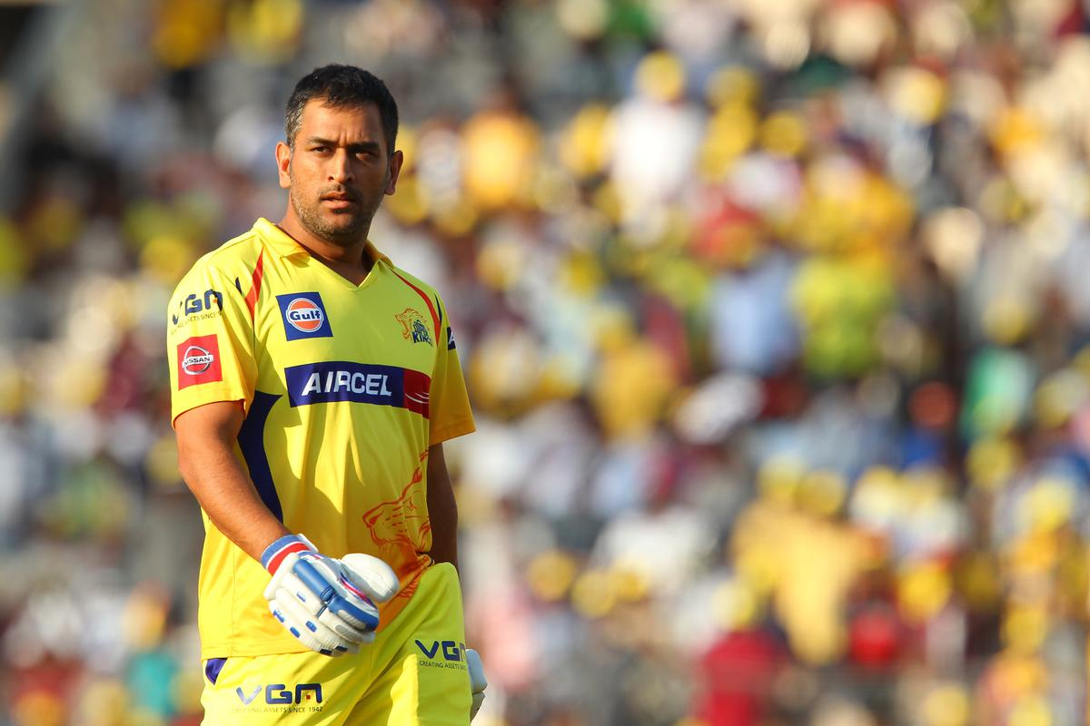MS Dhoni departs during match 45 of the Pepsi Indian Premier League between The Chennai Superkings and the Kings XI Punjab held at the MA Chidambaram Stadium in Chennai on the 2nd May 2013..Photo by Ron Gaunt-IPL-SPORTZPICS   .. .Use of this image is subject to the terms and conditions as outlined by the BCCI. These terms can be found by following this link:..https://ec.yimg.com/ec?url=http%3a%2f%2fwww.sportzpics.co.za%2fimage%2fI0000SoRagM2cIEc&t=1490569002&sig=E.IVWMptS2eMTEzeTMiQcQ--~C