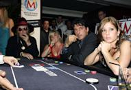 John Mccririck, Brooke Kinsella, Jean-Christophe Novelli & Nikki Sanderson Attend The Launch Of The Maxim King Of Poker Tournament At Pacha In London. (Photo by Justin Goff\UK Press via Getty Images)