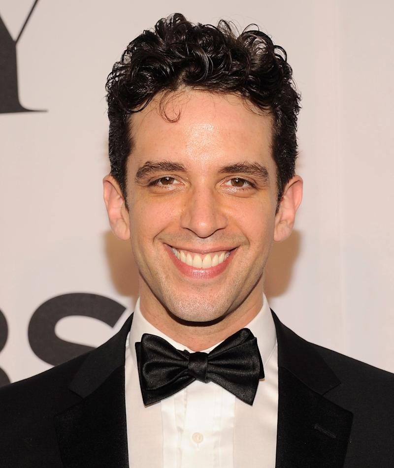 Nick Cordero arrives at the Tony Awards at Radio City Music Hall on June 8, 2014, in New York. (Photo: Charles Sykes/Invision/AP)