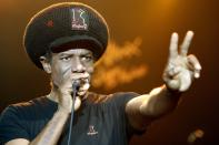 "FILE - British reggae musician Eddy Grant performs during the 42nd Montreux Jazz Festival in Montreux, Switzerland on July 16, 2008. Dozens of artists have objected to President Donald Trump using their music in his two presidential campaigns. Grant sued Trump in September over the use of his 1980s hit ""Electric Avenue"" in a Trump campaign animated video that mocked his opponent Joe Biden. (AP Photo/KEYSTONE/Jean-Christophe Bott, File)"