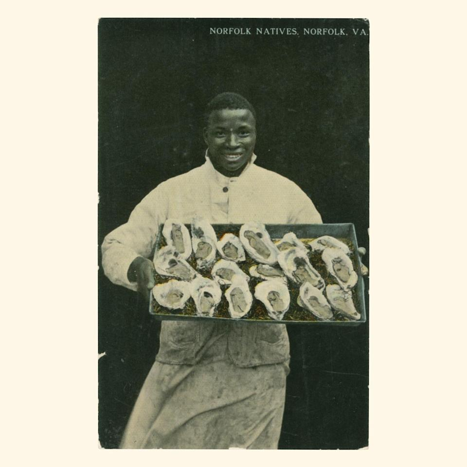 """<cite class=""""credit"""">Photo from <em>Vintage Postcards From the African World: In the Dignity of Their Work and the Joy of Their Play</em> by Jessica B Harris,, University Press of Mississippi</cite>"""