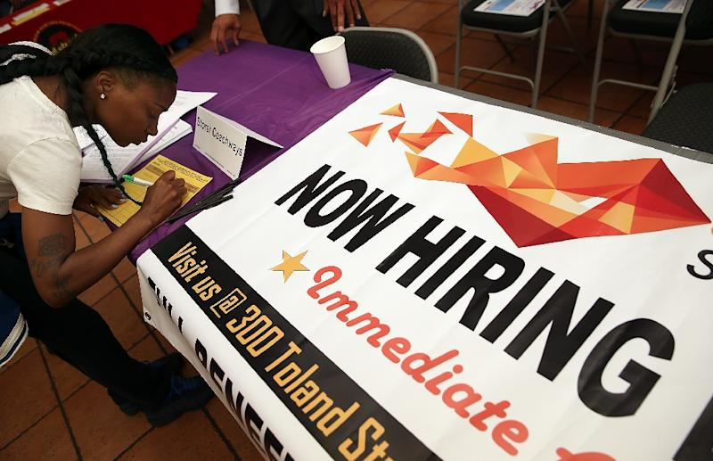 With unemployment now having dropped to 5.7 percent on a strong pace of job creation since the middle of last year, the Fed's focus is on inflation (AFP Photo/Justin Sullivan)