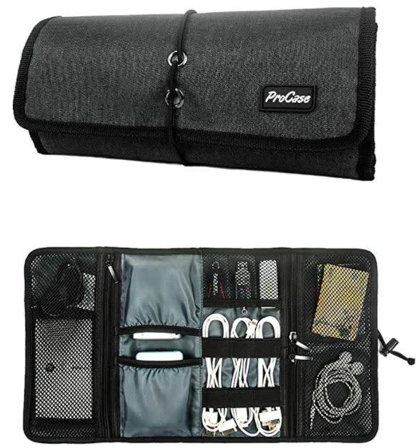 "Find this ProCase Accessories Bag Organizer for $12 on <a href=""https://amzn.to/3heTql6"" rel=""nofollow noopener"" target=""_blank"" data-ylk=""slk:Amazon"" class=""link rapid-noclick-resp"">Amazon</a>."