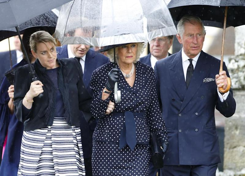 Prince Charles, Camilla and her daughter