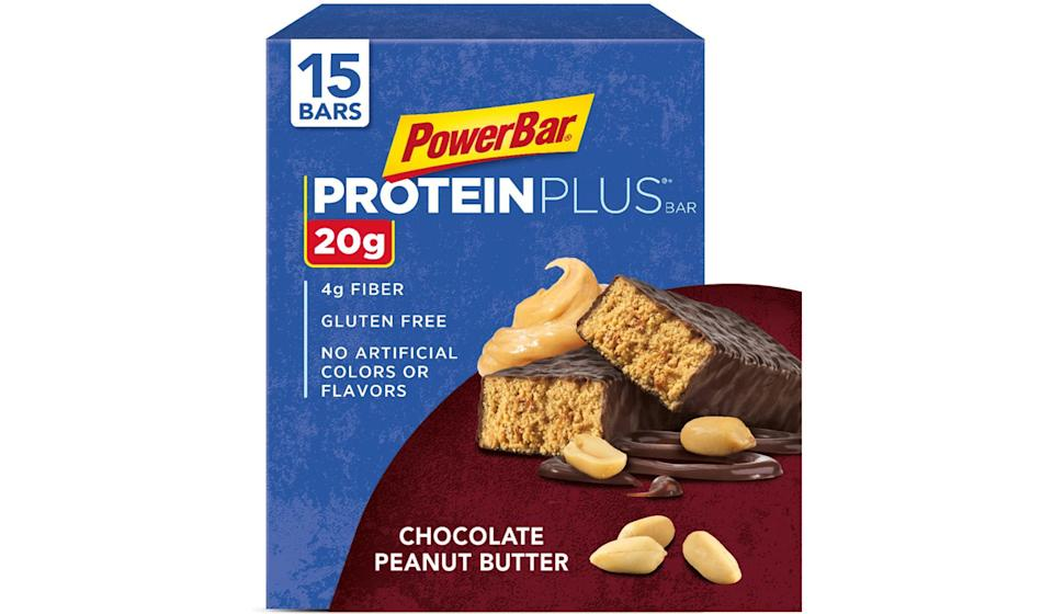 PowerBar Protein Plus Bar- Chocolate Peanut Butter, 15 count. (Photo: Amazon)