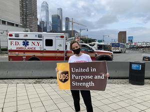 UPS Chief Corporate Affairs and Communications Officer Laura Lane participated in a run honoring and supporting those who perished on 9/11. Proceeds go to support children of first responders and military members.