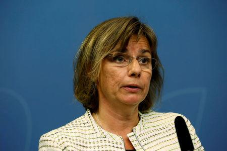 FILE PHOTO: Swedish Minister for International Development Cooperation and Deputy Prime Minister Isabella Lovin speaks to the media during a news conference in Stockholm, Sweden July 2, 2016. TT News Agency/Johan Jeppsson/via REUTERS/File Photo