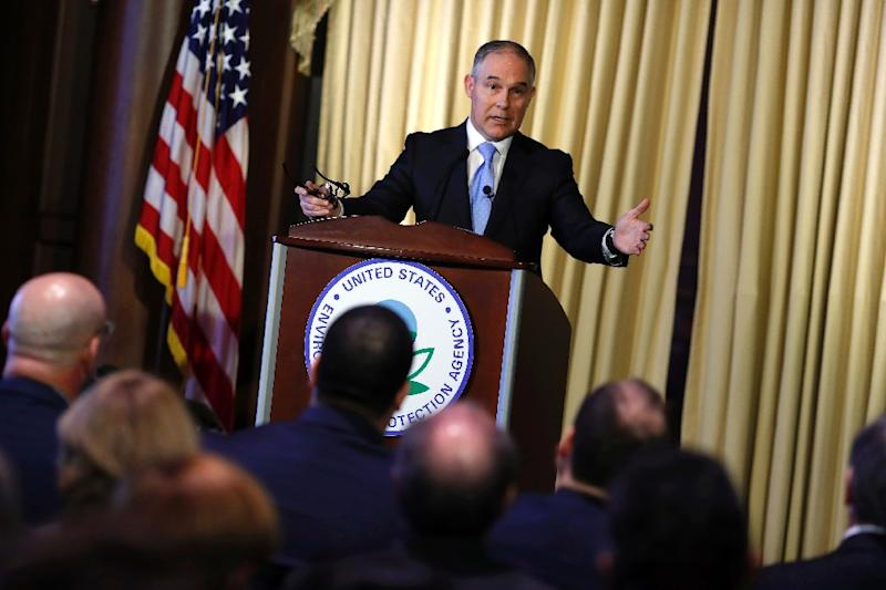 Environmental Protection Agency Administrator Scott Pruitt is said to be pushing for an exit from the Paris climate change accords (AFP Photo/Aaron P. Bernstein)