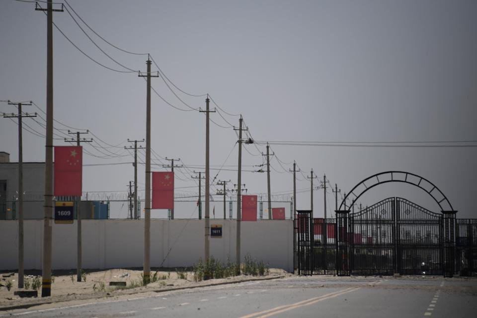 <p>A facility believed to be a 're-education' camp for Uighurs</p> (AFP via Getty Images)