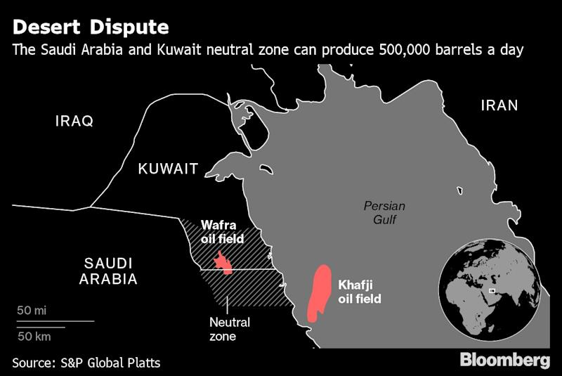 Kuwait Working With Saudis to Resume Neutral Zone Oil Output