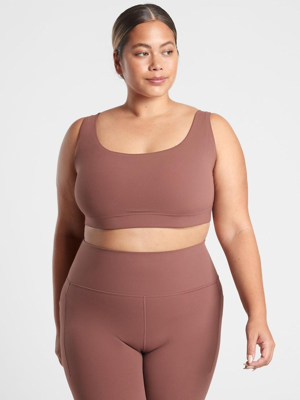<p>If you like a strappy, more minimal bra, go with this <span>Athleta Exhale Bra</span> ($49).</p>