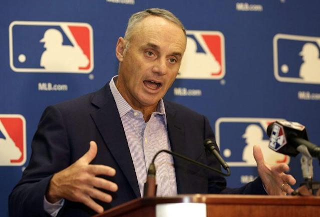 MLB commissioner Rob Manfred is adamant baseball needs to respond to fans' desires to change the game. (AP)
