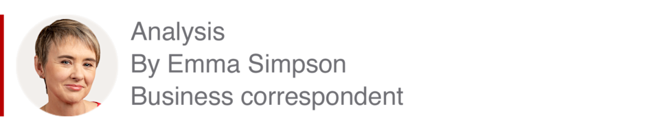 Analysis box by Emma Simpson, business correspondent