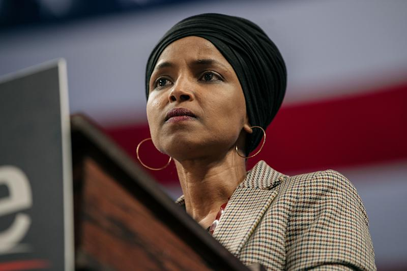 Rep. Ilhan Omar (D-Minn.) was one of the early champions of the Green New Deal. (Photo: Scott Heins via Getty Images)