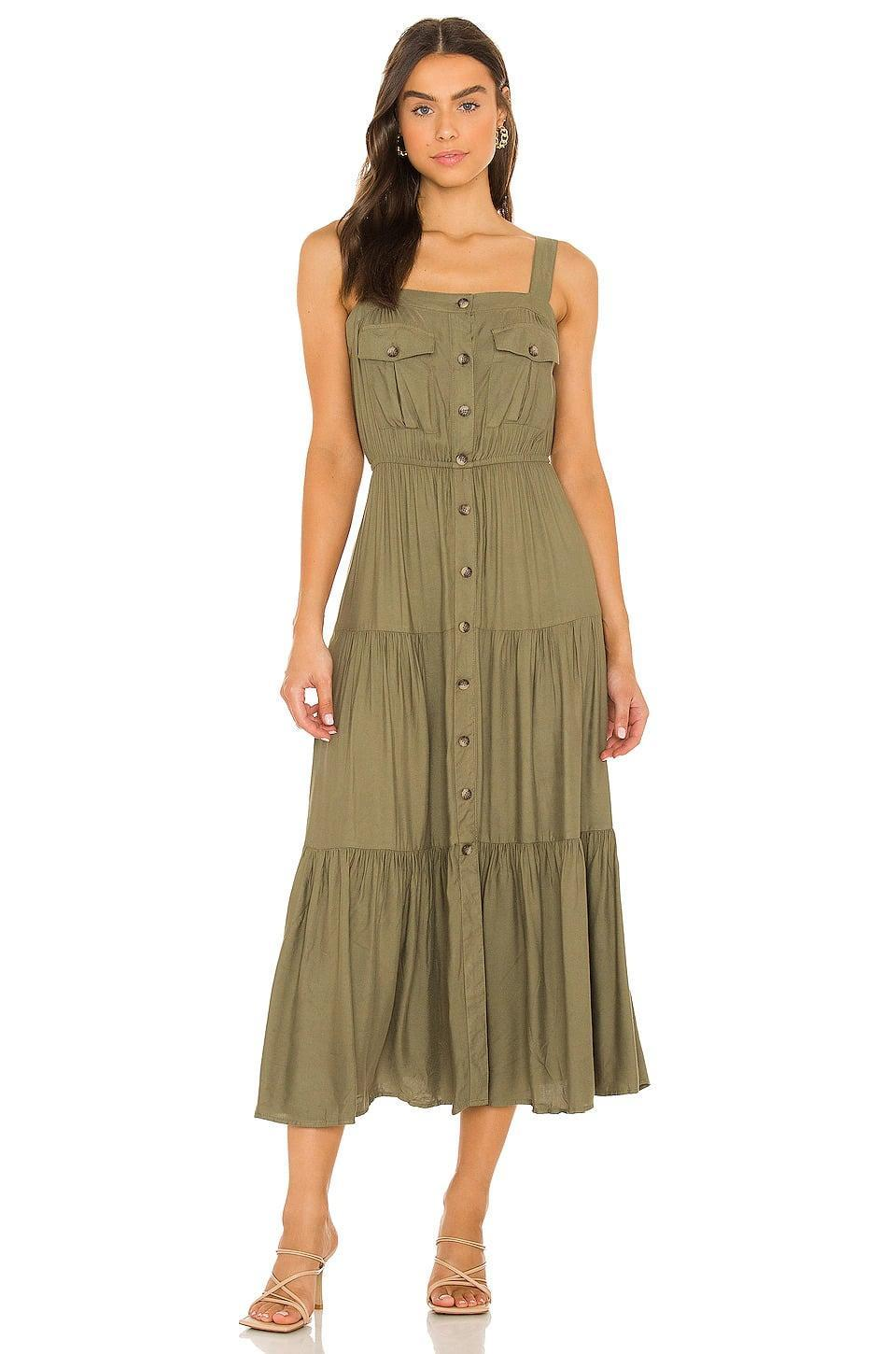 <p>Not only is the mossy green color such a vibe for fall, we're in love with the silhouette of this <span>BB Dakota by Steve Madden Field Trip Dress in Mossy Green</span> ($109). It's flowy, casual, and perfect for those fall foliage photoshoots.</p>