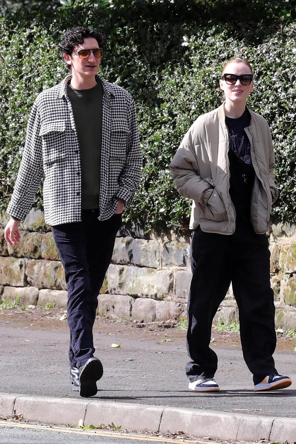 <p>Phoebe Dynevor was spotted across the pond in Trafford, enjoying a sunny stroll with a friend.</p>