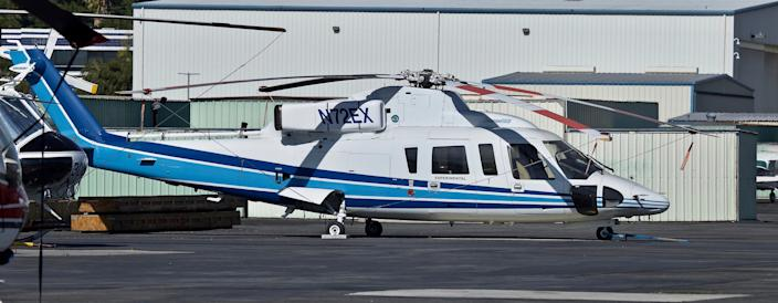 The Sikorsky S-76B helicopter that crashed with NBA legend Kobe Bryant, his 13-year-old daughter and several others aboard seen in February 2018