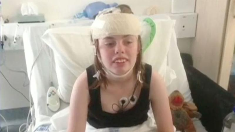 Skye Fleming could suffer as many as 130 seizures a day. Source: 7 News