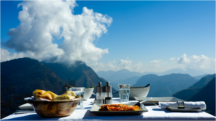 """<p><span>Could there be a better way to detox the body than breathing in fresh mountain air and taking in incredible views in the Himalayas? Try one of the new 'Head in the Clouds' journeys from </span><a href=""""http://www.shaktihimalaya.com/"""" rel=""""nofollow noopener"""" target=""""_blank"""" data-ylk=""""slk:Shakti Himalaya"""" class=""""link rapid-noclick-resp""""><span>Shakti Himalaya</span></a><span>, which combine walking in the Himalayan foothills with an education in mindfulness. You're led through little-known villages by a personal yoga and meditation teacher who will help you reach a state of calm against the backdrop of snow-capped peaks. Eight days' full-board from £4,702. [Photo: Shakti Himalaya] </span> </p>"""