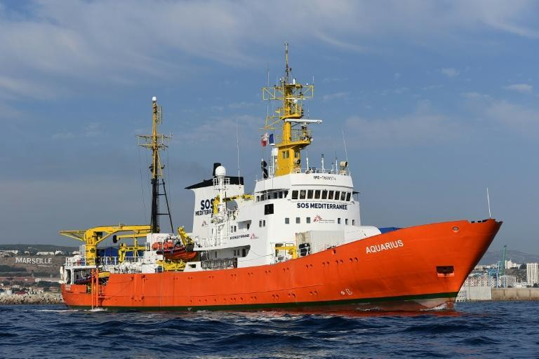 The Aquarius has been stranded in Marseille since early October after Panama revoked the right to fly its flag