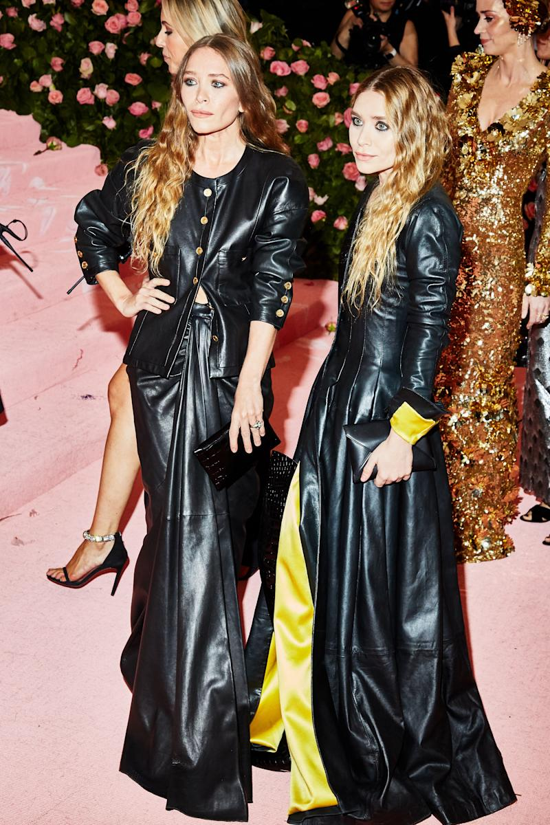 Mary-Kate and Ashley Olsen on the red carpet at the Met Gala in New York City on Monday, May 6th, 2019. Photograph by Amy Lombard for W Magazine.