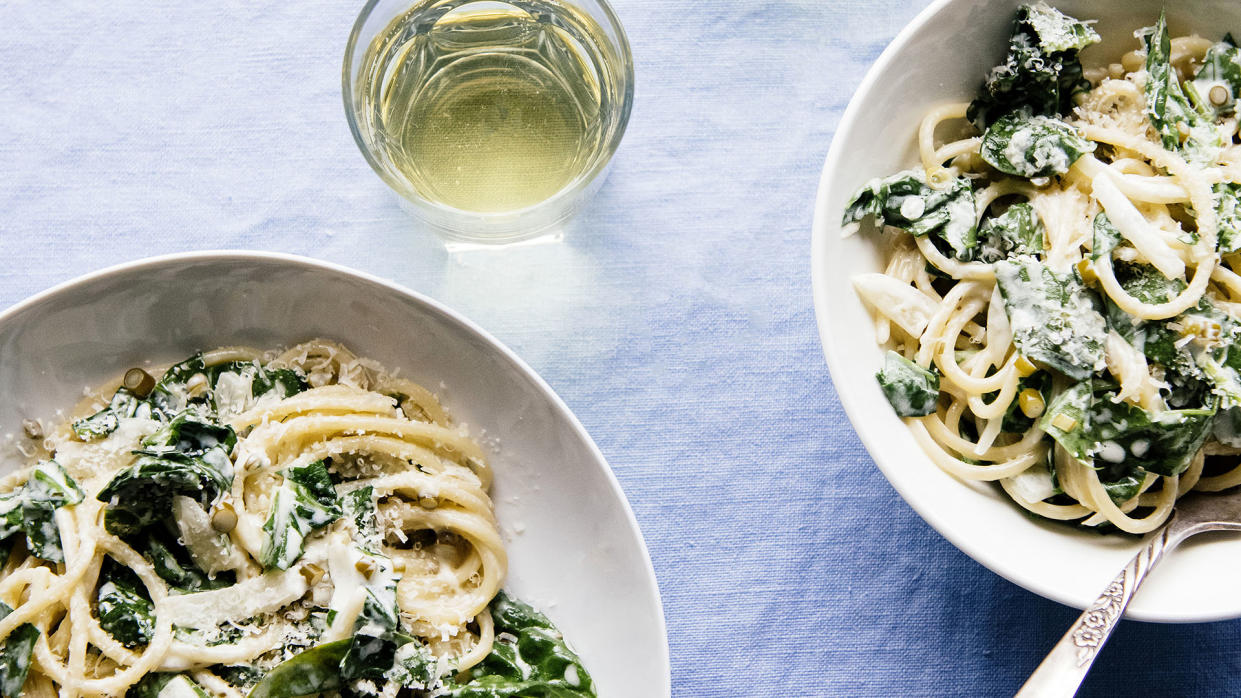 Garlic and Spinach Pasta (EE Berger / EE Berger)
