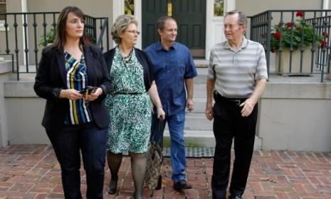The family of meningitis patient Janet Russell on Oct. 5: The mother of three contracted a potentially deadly form of fungal meningitis after getting tainted steroid shots for back pain.