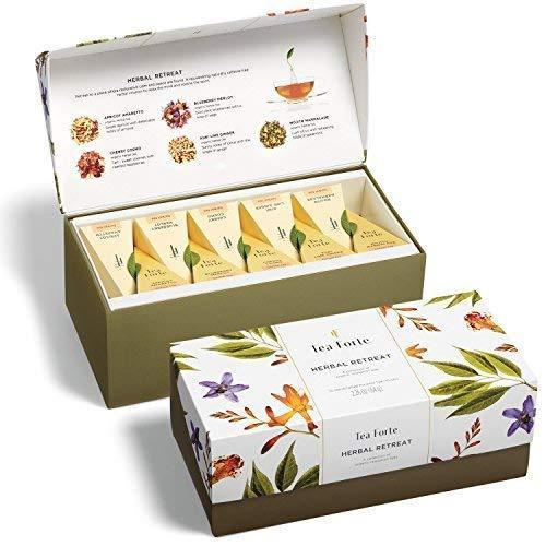 """<h3>Tea Forte Presentation Box</h3><br>Who's ready for some tea? This beautiful gift box of 20 pyramid sachets is sure to delight.<br><br><strong>Rating:</strong> 4.8 out of 5 stars, and 3,088 reviews<br><br><strong>A Satisfied Customer Review: </strong>""""Purchased as a gift for a tea-loving and tea knowledgeable friend. The presentation is beautiful, and the little factoids providing a little information about each tea are great. Even if you aren't a tea drinker in general, this presentation box and its teas might just stand a good chance at changing your mind.""""<br><br><strong>Tea Forte</strong> Presentation Box Tea Sampler Gift Set, 20 Assorted Vari, $, available at <a href=""""https://amzn.to/2SpZjF9"""" rel=""""nofollow noopener"""" target=""""_blank"""" data-ylk=""""slk:Amazon"""" class=""""link rapid-noclick-resp"""">Amazon</a>"""