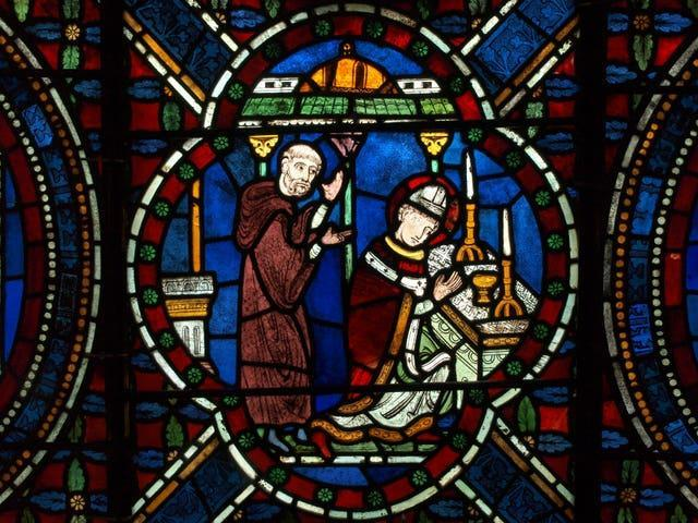 A stained glass image of St Thomas Becket at Canterbury Cathedral (Canterbury Cathedral/PA)
