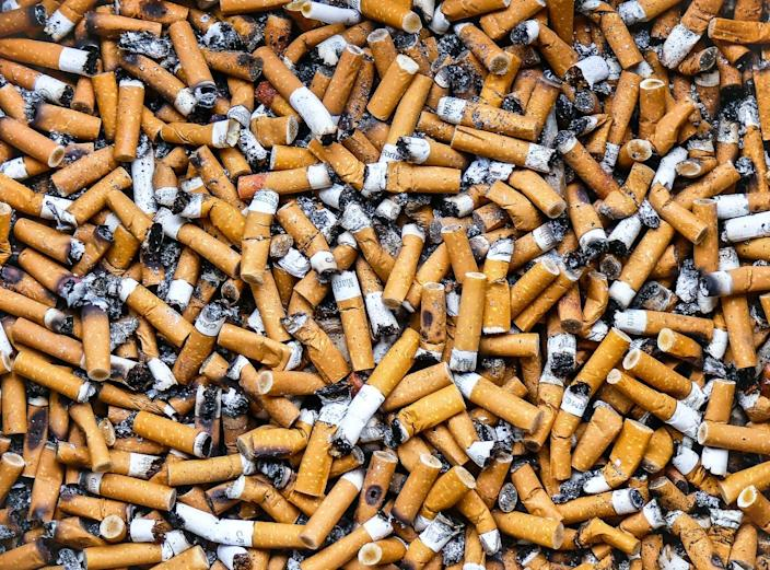 "<span class=""caption"">Four Americans die every year for every one person employed in the U.S. tobacco industry.</span> <span class=""attribution""><a class=""link rapid-noclick-resp"" href=""https://www.gettyimages.com/detail/photo/cigarette-butts-in-a-public-ashtray-royalty-free-image/957852396?adppopup=true"" rel=""nofollow noopener"" target=""_blank"" data-ylk=""slk:Julien Fourniol/Baloulumix via Getty Images"">Julien Fourniol/Baloulumix via Getty Images</a></span>"