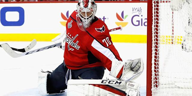 Braden Holtby has been a beast for the Caps. (Photo by Patrick McDermott/NHLI via Getty Images)