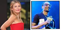 """<p>The Charlie's Angels star and 'Drop It Like It's Hot' rapper both attended Long Beach Polytechnic High School in California and were about a year or so apart. </p><p>In 2013, Snoop spoke about Diaz to <a href=""""https://www.yahoo.com/entertainment/bp/snoop-dogg-recalls-high-school-days-cameron-diaz-221306772.html"""" data-ylk=""""slk:Yahoo Music;outcm:mb_qualified_link;_E:mb_qualified_link;ct:story;"""" class=""""link rapid-noclick-resp yahoo-link"""">Yahoo Music </a>telling them: 'She ran with my homegirls, all my little cheerleading homegirls, she was in [their] little crew... she was fly and she was hip.' </p>"""
