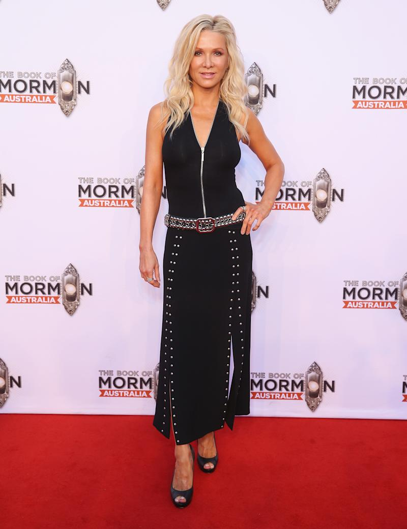 Danielle Spencer arrives ahead of The Book of Mormon opening night at the Lyric Theatre, Star City on March 9, 2018 in Sydney, Australia.